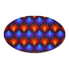 Background Colorful Abstract Oval Magnet by HermanTelo