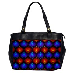 Background Colorful Abstract Oversize Office Handbag by HermanTelo