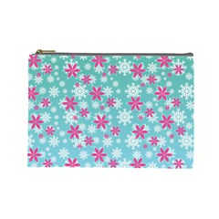 Background Frozen Fever Cosmetic Bag (large) by HermanTelo