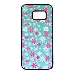 Background Frozen Fever Samsung Galaxy S7 Black Seamless Case by HermanTelo