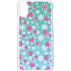 Background Frozen Fever Iphone X Seamless Case (white)
