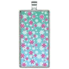 Background Frozen Fever Rectangle Necklace by HermanTelo