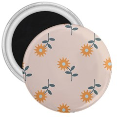 Flowers Continuous Pattern Nature 3  Magnets by HermanTelo