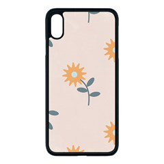 Flowers Continuous Pattern Nature Iphone Xs Max Seamless Case (black)