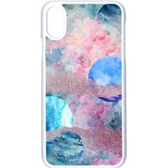 Abstract Clouds And Moon Iphone Xs Seamless Case (white) by charliecreates