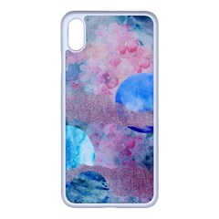 Abstract Clouds And Moon Iphone Xs Max Seamless Case (white) by charliecreates