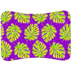 Neon Tropical Flowers Pattern Velour Seat Head Rest Cushion