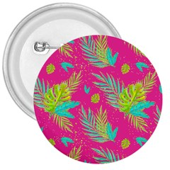 Neon Tropical Flowers Pattern 3  Buttons by tarastyle