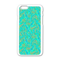 Neon Tropical Flowers Pattern Iphone 6/6s White Enamel Case by tarastyle