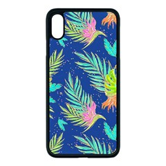 Neon Tropical Flowers Pattern Iphone Xs Max Seamless Case (black) by tarastyle