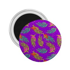 Neon Tropical Flowers Pattern 2 25  Magnets by tarastyle