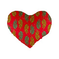 Neon Tropical Flowers Pattern Standard 16  Premium Heart Shape Cushions by tarastyle