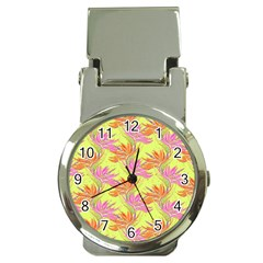 Neon Tropical Flowers Pattern Money Clip Watches by tarastyle
