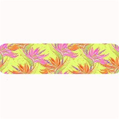 Neon Tropical Flowers Pattern Large Bar Mats by tarastyle