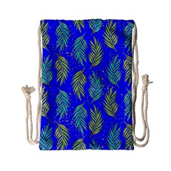 Neon Tropical Flowers Pattern Drawstring Bag (small) by tarastyle