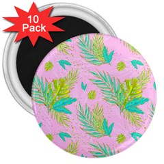 Neon Tropical Flowers Pattern 3  Magnets (10 Pack)  by tarastyle