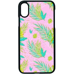 Neon Tropical Flowers Pattern Iphone X Seamless Case (black) by tarastyle