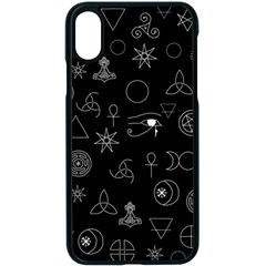 Witchcraft Symbols  Iphone Xs Seamless Case (black) by Valentinaart