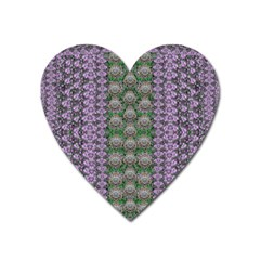 Decorative Juwel And Pearls Ornate Heart Magnet by pepitasart