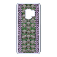 Decorative Juwel And Pearls Ornate Samsung Galaxy S9 Seamless Case(white) by pepitasart