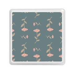 Florets Rose Flower Memory Card Reader (square) by HermanTelo
