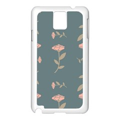 Florets Rose Flower Samsung Galaxy Note 3 N9005 Case (white)