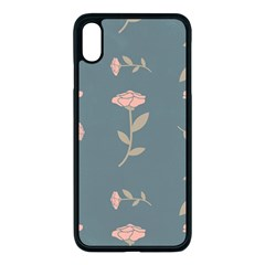 Florets Rose Flower Iphone Xs Max Seamless Case (black)