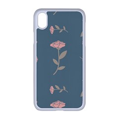 Florets Rose Flower Iphone Xr Seamless Case (white)