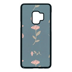 Florets Rose Flower Samsung Galaxy S9 Seamless Case(black)