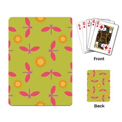 Dragonfly Sun Flower Seamlessly Playing Cards Single Design
