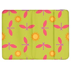 Dragonfly Sun Flower Seamlessly Samsung Galaxy Tab 7  P1000 Flip Case by HermanTelo