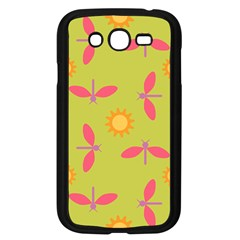 Dragonfly Sun Flower Seamlessly Samsung Galaxy Grand Duos I9082 Case (black) by HermanTelo