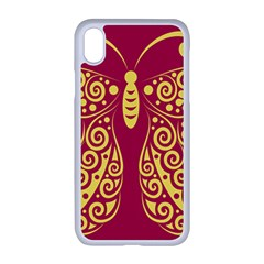 Butterfly Insect Bug Decoration Iphone Xr Seamless Case (white)