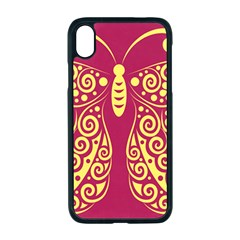 Butterfly Insect Bug Decoration Iphone Xr Seamless Case (black)