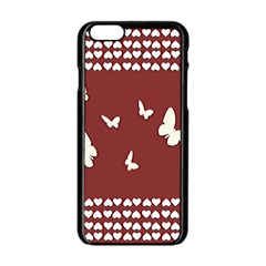 Heart Love Butterflies Animal Iphone 6/6s Black Enamel Case by HermanTelo