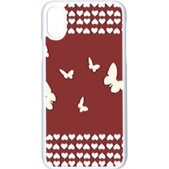 Heart Love Butterflies Animal Iphone X Seamless Case (white)