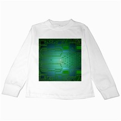 Board Conductors Circuits Kids Long Sleeve T Shirts by HermanTelo
