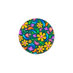 Floral Paisley Background Flower Green Golf Ball Marker (10 Pack) by HermanTelo