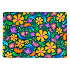 Floral Paisley Background Flower Green Samsung Galaxy Tab 10 1  P7500 Flip Case by HermanTelo