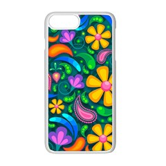 Floral Paisley Background Flower Green Iphone 8 Plus Seamless Case (white)