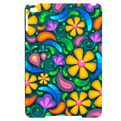 Floral Paisley Background Flower Green Apple Ipad Mini 4 Black Uv Print Case