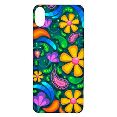 Floral Paisley Background Flower Green Iphone X/xs Soft Bumper Uv Case