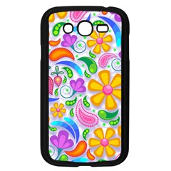 Floral Paisley Background Flower Yellow Samsung Galaxy Grand Duos I9082 Case (black) by HermanTelo