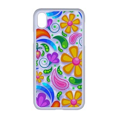 Floral Paisley Background Flower Yellow Iphone Xr Seamless Case (white)