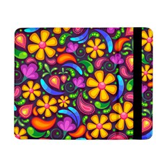 Floral Paisley Background Flower Purple Samsung Galaxy Tab Pro 8 4  Flip Case by HermanTelo