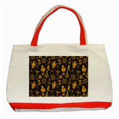 Christmas Background Gold Classic Tote Bag (red) by HermanTelo
