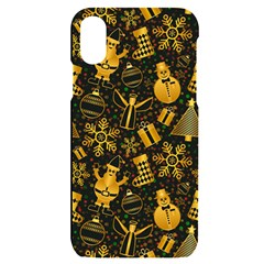 Christmas Background Gold Iphone X/xs Black Uv Print Case