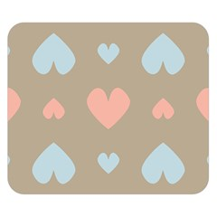 Hearts Heart Love Romantic Brown Double Sided Flano Blanket (small)  by HermanTelo