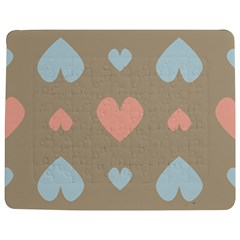 Hearts Heart Love Romantic Brown Jigsaw Puzzle Photo Stand (rectangular)