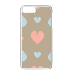 Hearts Heart Love Romantic Brown Iphone 8 Plus Seamless Case (white)